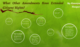 What Other Amendments Have Extended Citizens' Rights?
