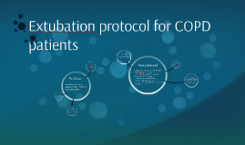 Extubation protocol for COPD patients