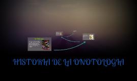 HISTORIA DE LA ONOTOLOGIA