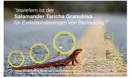 """""""Inwiefern ist der Salamander Taricha Granulosa für Evolutio"""