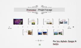Provence - Projet Voyage