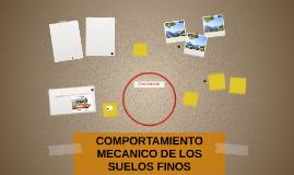 COMPORTAMIENTO MECANICO DE LOS SUELOS FINOS