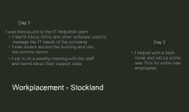 Work Placement - Stockland