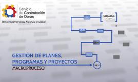 GESTIÓN DE PLANES, PROGRAMAS Y PROYECTOS