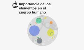 Importancia de los elementos en el cuerpo humano