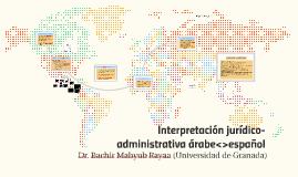 Interpretación jurídico-administrativa árabe-español