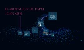 ELABORACION DE PAPEL TORNASOL