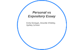 Personal vs Expository Essay