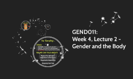 GEND011: Week 4, Lecture 2 - Gender and the Body