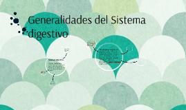 Generalidades del Sistema digestivo