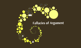 WRI: Fallacies of Arguement