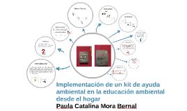 Implementación de un kit de ayuda ambiental en la educación