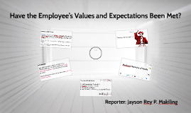Have the Employee's Values and Expectations Been Met?