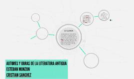 AUTORES Y OBRAS DE LA LITERATURA ANTIGUA