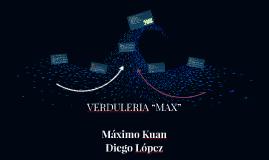 """VERDULERIA """"MAX"""""""