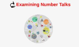 Copy of Examining Number Talks