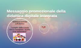 Messaggio promozionaledella didattica digitale integrata