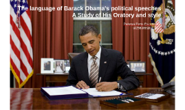 The language of Barack Obama's political speeches