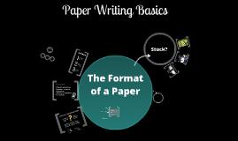 Paper Writing Basics