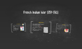 French Indian War (1754-1763)