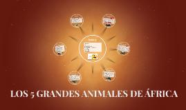 LOS 5 GRANDES ANIMALES DE ÁFRICA