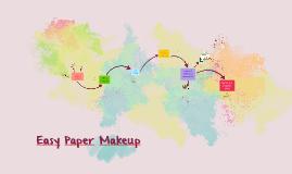Easy Paper Makeup
