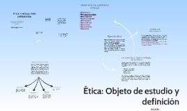 Ética: objeto de estudio y definición
