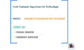 Copy of projet domaine d'utilisation des polymere