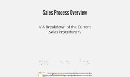 Sales Process Overview