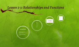 Lesson 5-1: Relationships and Functions