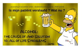Alcohol & medicatie in de thuiszorg
