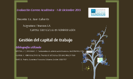 Capital de trabajo - Diciembre 2015