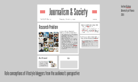 Role conceptions of lifestyle bloggers from the audience's p