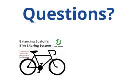 Balancing Boston's Bike Sharing System