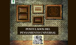 Copy of POSTULADOS DEL PENSAMIENTO UNIVERSAL