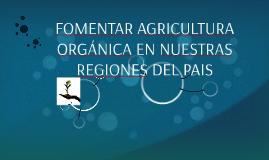 FOMENTAR AGRICULTURA ORGÁNICA EN NUESTRAS REGIONES DEL PAIS