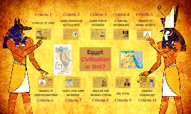 Egypt: Civilization or Not?