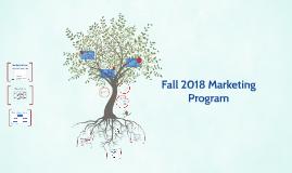 Fall 2018 Marketing Program