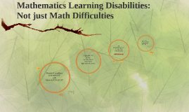 Mathematics Learning Disabilities: