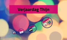 Verjaardag Thijn