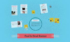 Paul Is Dead Rumor