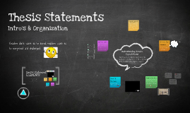 Thesis Statements ENC 1101