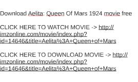 Download Aelita: Queen Of Mars 1924 movie free