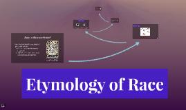 Etymology of Race