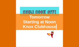 Chili Cook Off!