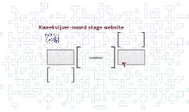 Kweekvijver-noord stage website