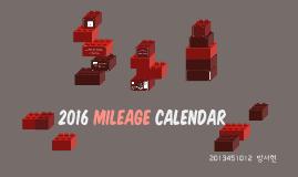 2016 Mileage Calendar