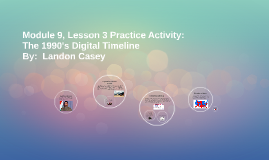Module 9, Lesson 3 Practice Activity:  The 1990's Digital Ti