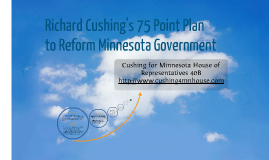 My 75 Point Plan to Reform MN Government