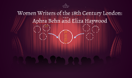 Women Writers of 18th Century London: Aphra Behn and Eliza H